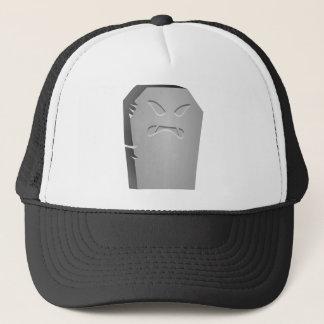 Angry Halloween Tombstone Trucker Hat