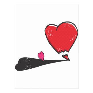 Angry Heart Postcard