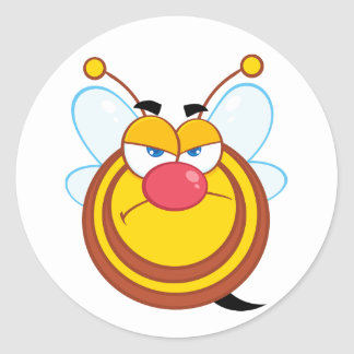 Angry Honey Bee Stickers