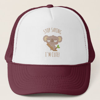 Angry Koala Bear Stop Saying I Am Cute Hat