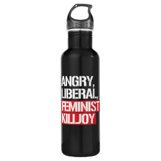 Angry Liberal Feminist Killjoy --  white - 710 Ml Water Bottle