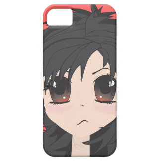 Angry Little Chibi Girl with Black Hair Barely There iPhone 5 Case