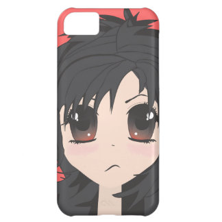 Angry Little Chibi Girl with Black Hair iPhone 5C Cover