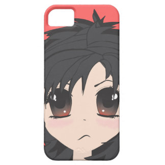 Angry Little Chibi Girl with Black Hair iPhone 5 Cover