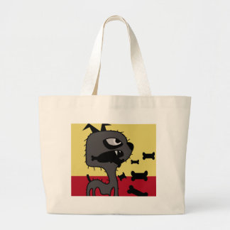 Angry little dog large tote bag