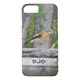 Angry Looking Bird with Your Initials iPhone 7 Case