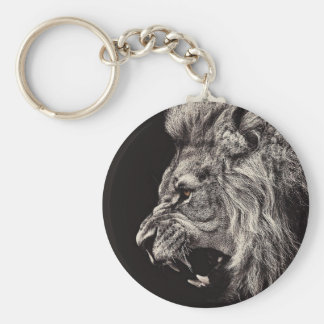 Angry Male Lion Key Ring