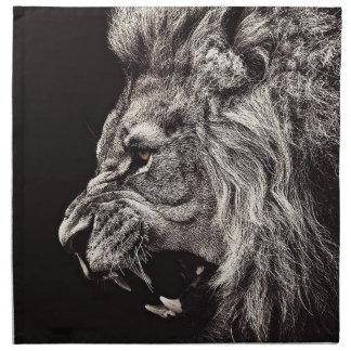 Angry Male Lion Napkin