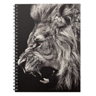 Angry Male Lion Notebook