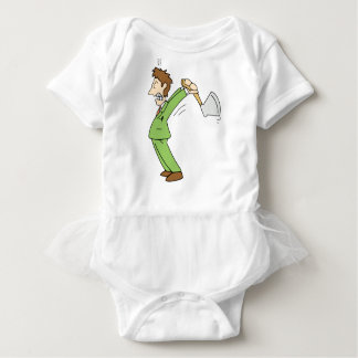 Angry Man with Axe Baby Bodysuit
