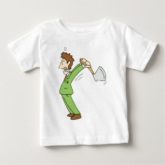 Angry Man with Axe Baby T-Shirt