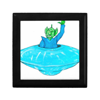 Angry Martian Small Square Gift Box