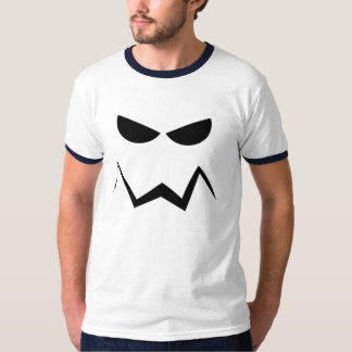 Angry Mean Face, Black Eyes and Mouth, T-Shirt