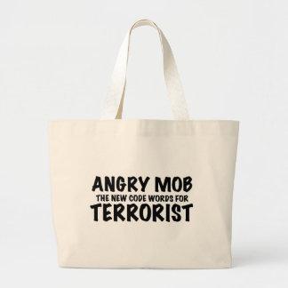 ANGRY MOB JUMBO TOTE BAG