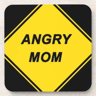 """Angry Mom"" design Beverage Coaster"