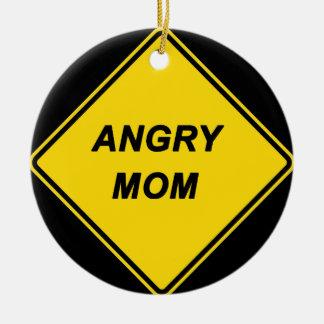 """""""Angry Mom"""" design Christmas Ornaments"""