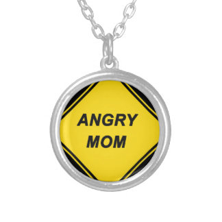 """Angry Mom"" design Custom Necklace"