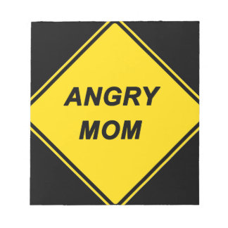 """Angry Mom"" design Memo Pads"