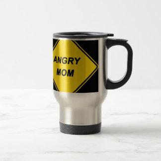 """Angry Mom"" design Stainless Steel Travel Mug"