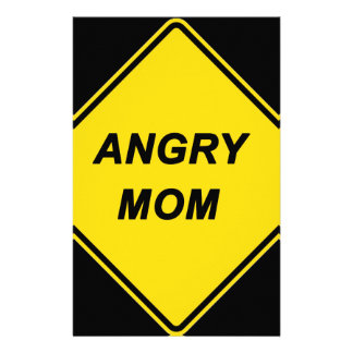 """Angry Mom"" design Stationery Design"