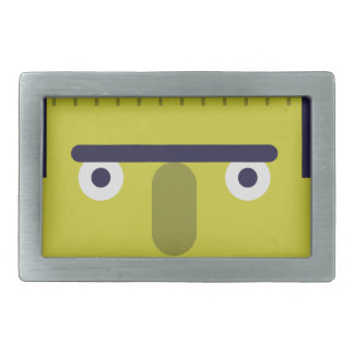Angry Monster Rectangular Belt Buckles