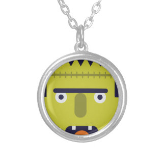 Angry Monster Silver Plated Necklace