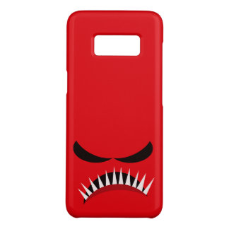Angry Monster With Evil Eyes and Sharp Teeth Red Case-Mate Samsung Galaxy S8 Case