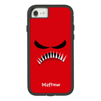 Angry Monster With Evil Eyes and Sharp Teeth Red Case-Mate Tough Extreme iPhone 8/7 Case