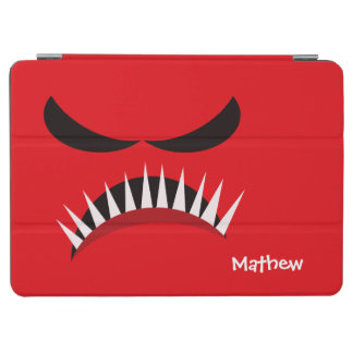 Angry Monster With Evil Eyes and Sharp Teeth Red iPad Air Cover