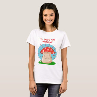 angry mushroom funny cartoon T-Shirt