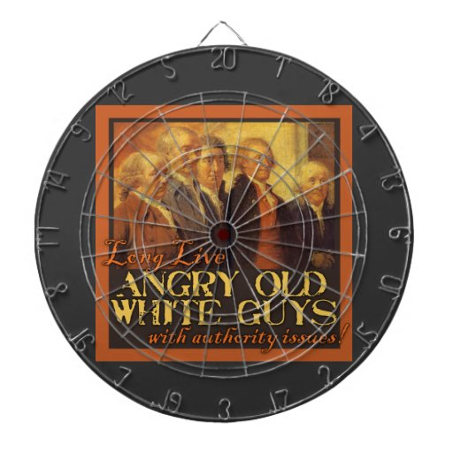 Angry Old White Guys...Like the Founding Fathers Dartboard