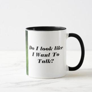 Angry Owl No Talking Coffee Mug