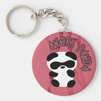 Angry Panda Key Ring