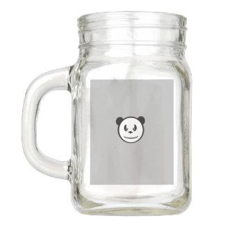 Angry Panda Mason Jar