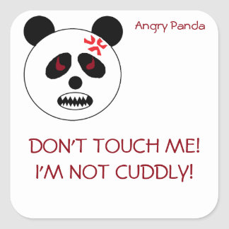 Angry Panda Stickers! Square Sticker