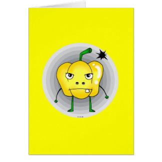 Angry paprika card
