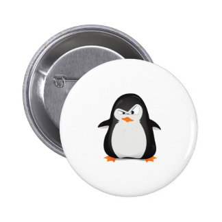 Angry Penguin 6 Cm Round Badge
