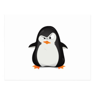 Angry Penguin Postcard