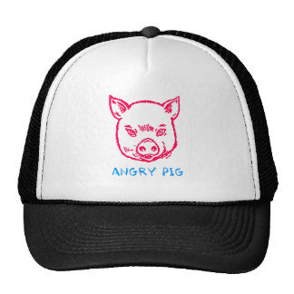 angry pig cap