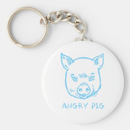 angry pig keychain