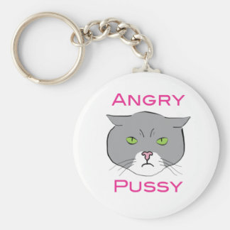 Angry Pussy Keychain