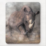 Angry Rhino Mouse Pad