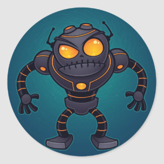 Angry Robot Classic Round Sticker