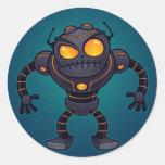 Angry Robot Round Sticker