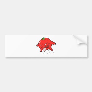 angry rotten tomato cartoon character bumper sticker