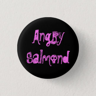 Angry Salmond 3 Cm Round Badge
