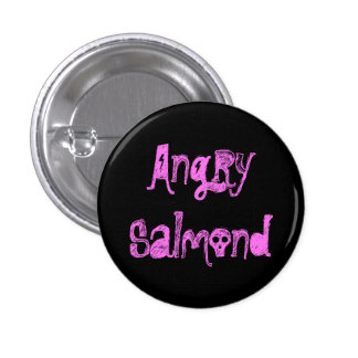 Angry Salmond 3 Cm Round Badge