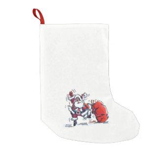 Angry Santa Christmas stocking for bad kids small