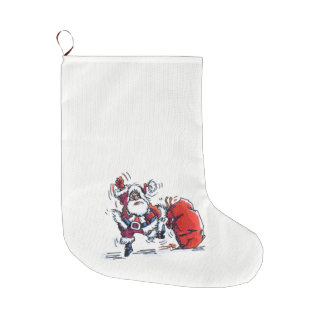 Angry Santa Chrstmas stocking for bad kids large