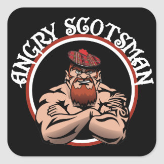 Angry Scotsman 2015 Square Sticker